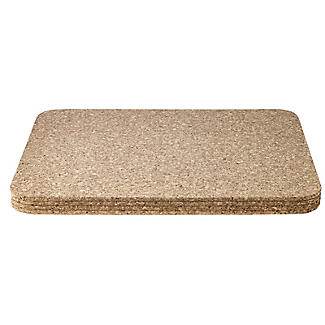 T&G Woodware Large Rectangular Cork Table Mats Set of 4