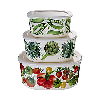 Emma Bridgewater Vegetable Garden Melamine Storage Boxes – Set of 3