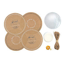 Jam Jar Covers and Wax Discs - Set of 24