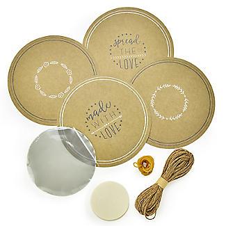 Jam Jar Covers and Wax Discs - Set of 24 alt image 2