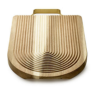 Acacia Chopping Board with Concentric Grooves