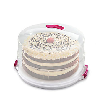 2 in 1 Height Adjustable Cake Carrier Caddy - Round Holds 30cm Cakes