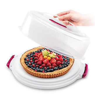 2 in 1 Height Adjustable Cake Carrier Caddy - Round Holds 30cm Cakes alt image 6