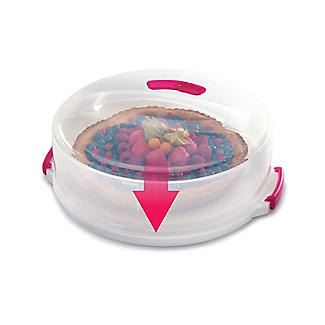 2 in 1 Height Adjustable Cake Carrier Caddy - Round Holds 30cm Cakes alt image 9