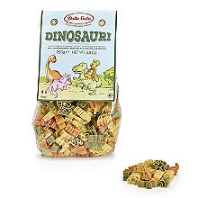 Dalla Costa Tricolour Dinosaur Pasta Shapes 250g