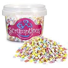 Scrumptious Mini Glimmer Rainbow Star Sprinkles 60g