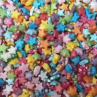 Scrumptious Sprinkles Mini Glimmer Rainbow Stars 60g alt image 2