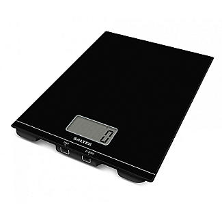 Salter Flat Glass Kitchen Platform Scale Black 1172BKDR