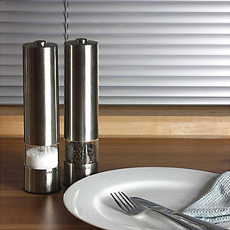 Salter Electronic Salt and Pepper Mill Set alt image 2
