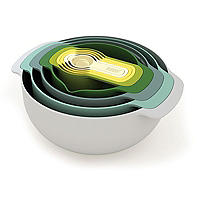 Joseph Joseph Nest 9 Plus Mixing Bowls Sieve And Spoon Set Opal