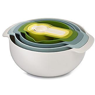 Joseph Joseph Nest 9 Plus Mixing Bowls Sieve And Spoon Set Opal alt image 3