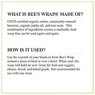 Bee's Wrap Assorted Reusable Food Wraps - Pack of 3 alt image 8