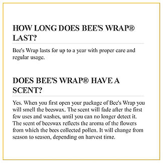 Bee's Wrap Assorted Reusable Food Wraps - Pack of 3 alt image 9