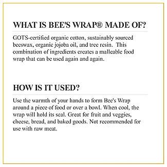 Bee's Wrap Reusable Sandwich Wrap 33 x 33cm alt image 8
