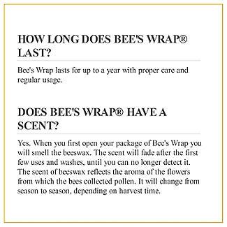 Bee's Wrap Reusable Sandwich Wrap 33 x 33cm alt image 9