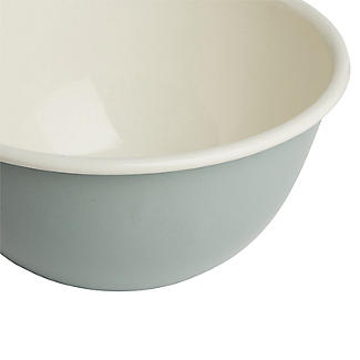 Mary Berry with Lakeland Cream and Green Enamel Pudding Basin 17cm alt image 6
