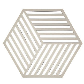Zone Denmark Hexagon Silicone Trivet – Warm Grey