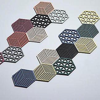 Zone Denmark Hexagon Silicone Trivet – Warm Grey alt image 3