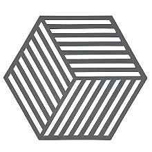 Zone Denmark Hexagon Silicone Trivet – Cool Grey