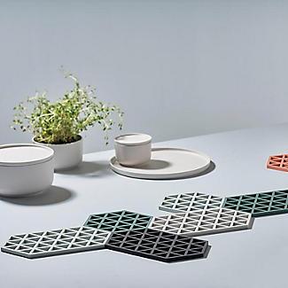 Zone Denmark Hexagon Silicone Trivet – Cool Grey alt image 2