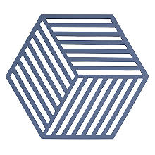 Zone Denmark Hexagon Silicone Trivet – Denim Blue