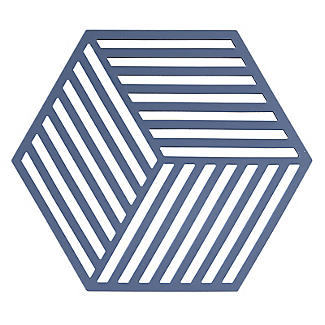 Zone Denmark Hexagon Silicone Trivet – Denim Blue alt image 1