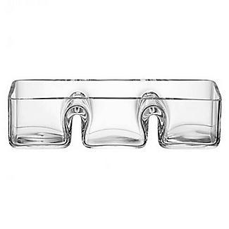 LSA Serve Trio Platter Glass Serving Dish