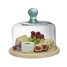 Lakeland Cheese Board with Glass Dome 22cm