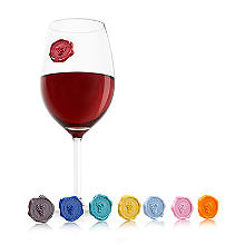 Vacu Vin Wine Glass Markers Classic Grapes - Set of 8