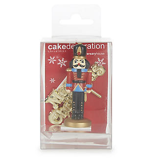 Nutcracker Resin Cake Topper and Christmas Motto alt image 2