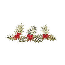Holly and Berries Cake Toppers - Pack of 6