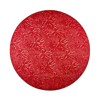 Gold, Red or Green Round Festive Cake Boards 25cm - Colours Vary alt image 2