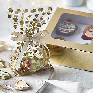 20 Gold Polka Dot  Presentation Gift Bags 12.5 x 28.5cm alt image 2