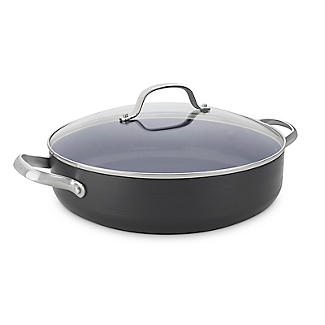 GreenPan Venice Pro 26cm Shallow Casserole with Glass Lid