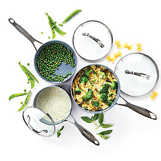 GreenPan Venice Pro 3-Piece Pan Set with Lids alt image 3