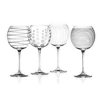 Mikasa Cheers Etched Balloon Glasses - Set of 4