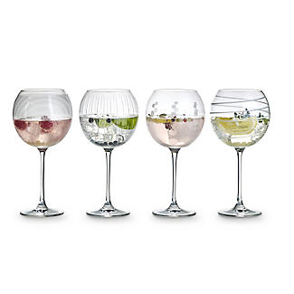 Mikasa Cheers Etched Balloon Glasses - Set of 4 alt image 2