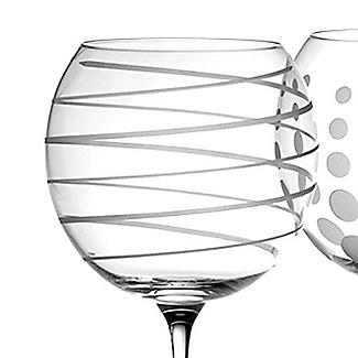 Mikasa Cheers Etched Balloon Glasses - Set of 4 alt image 3