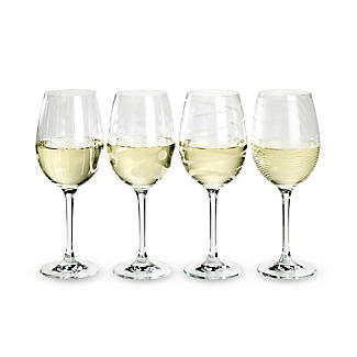Mikasa Cheers Etched White Wine Glasses - Set of 4 alt image 2