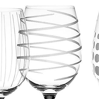 Mikasa Cheers Etched White Wine Glasses - Set of 4 alt image 5
