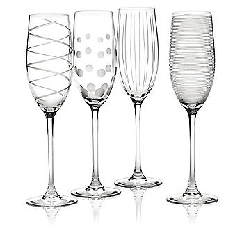 Mikasa Cheers Etched Champagne Flutes - Set of 4