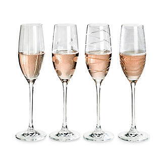 Mikasa Cheers Etched Champagne Flutes - Set of 4 alt image 2
