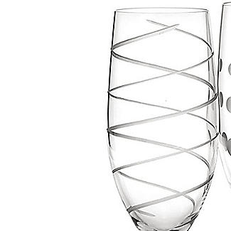Mikasa Cheers Etched Champagne Flutes - Set of 4 alt image 3