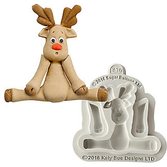 Sugar Buttons Reindeer Flexible Silicone Mould
