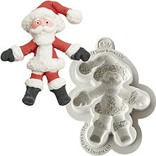 Sugar Buttons Father Christmas Silicone Mould