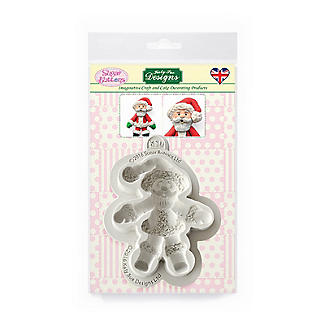 Sugar Buttons Father Christmas Silicone Mould alt image 5