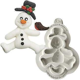Sugar Buttons Snowman Flexible Silicone Mould
