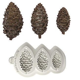 Katy Sue Designs Pine Cones Silicone Mould