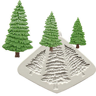 Katy Sue Designs Fir Trees Flexible Silicone Mould alt image 1