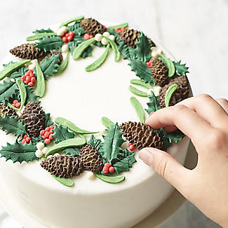 Katy Sue Designs Holly and Mistletoe Silicone Mould alt image 2